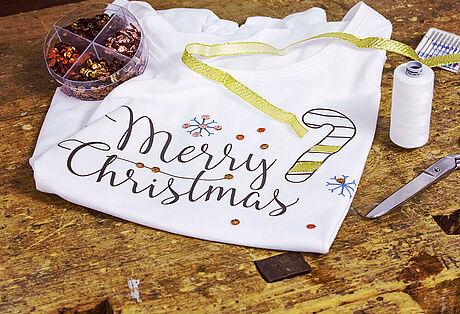Shirt mit Merry Christmas-Aufdruck