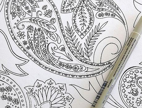 Pattern Design Zeichnung mit Stift