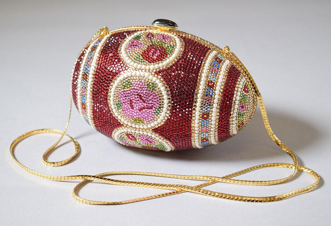 Abendtasche, genannt Faberge Egg, von Judith Leiber