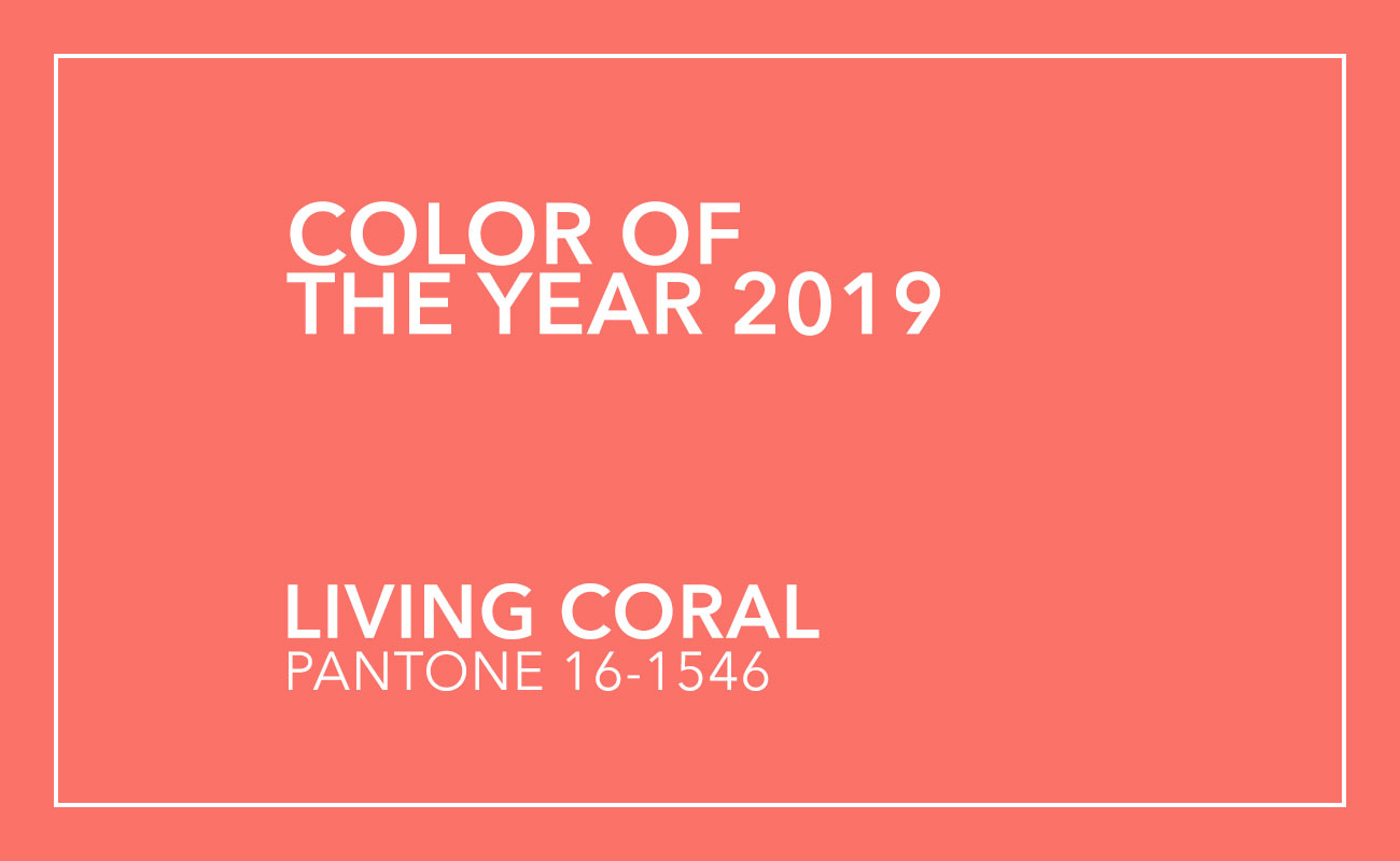 Farbtrends Farbe des Jahres Living coral