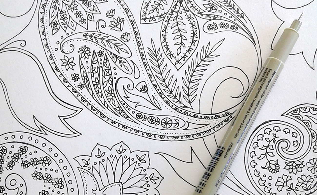 Pattern Design Drawing with pen