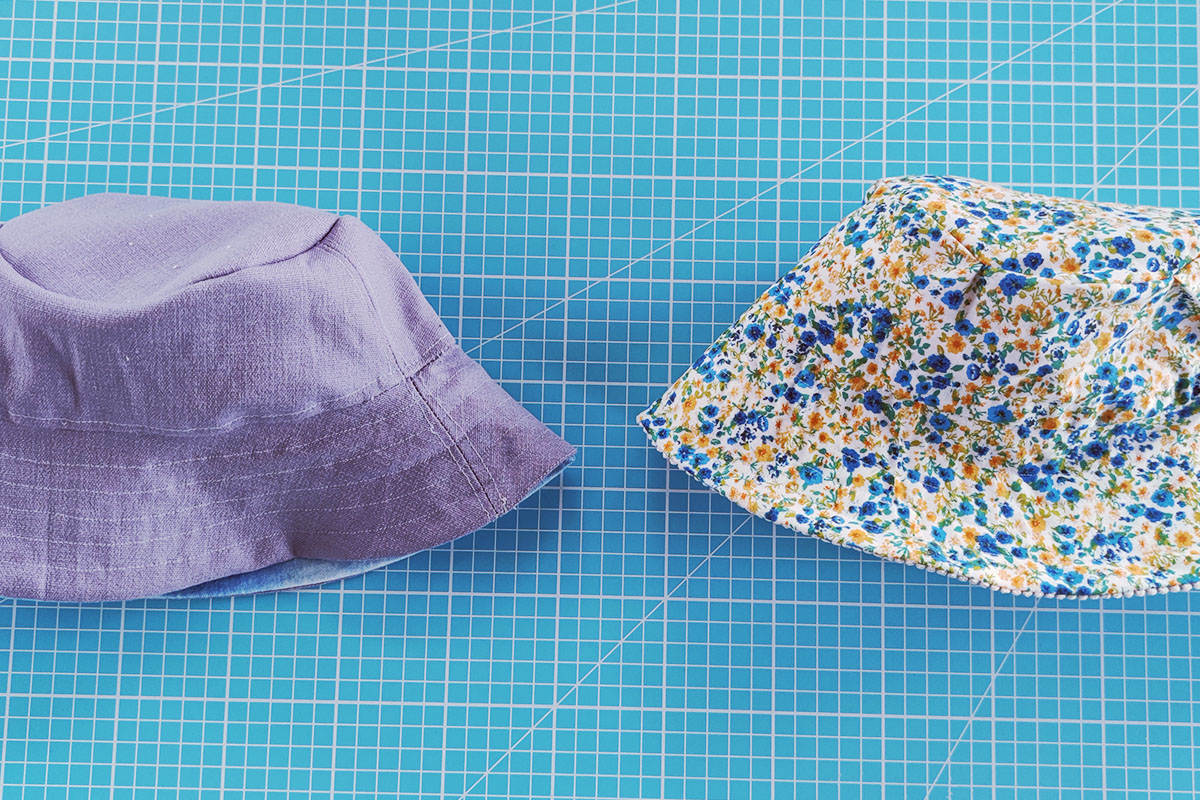 Sewing instructions for a bucket hat - step 9