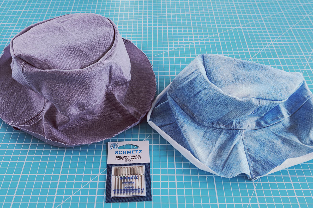 Sewing instructions for a bucket hat - step 8