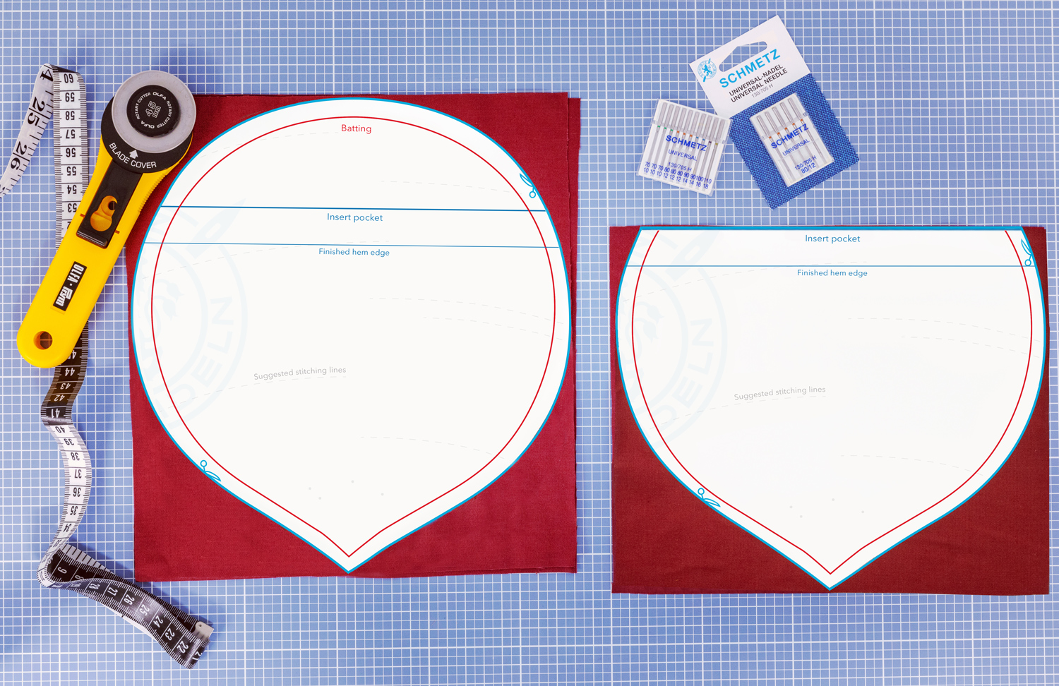 beet trend sewing pattern step 1 cut parts