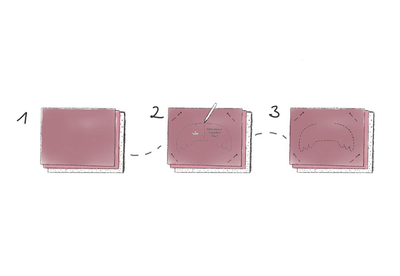 [Translate to Englisch:] Nähanleitung Vögelchen: Schritt 1 bis 3
