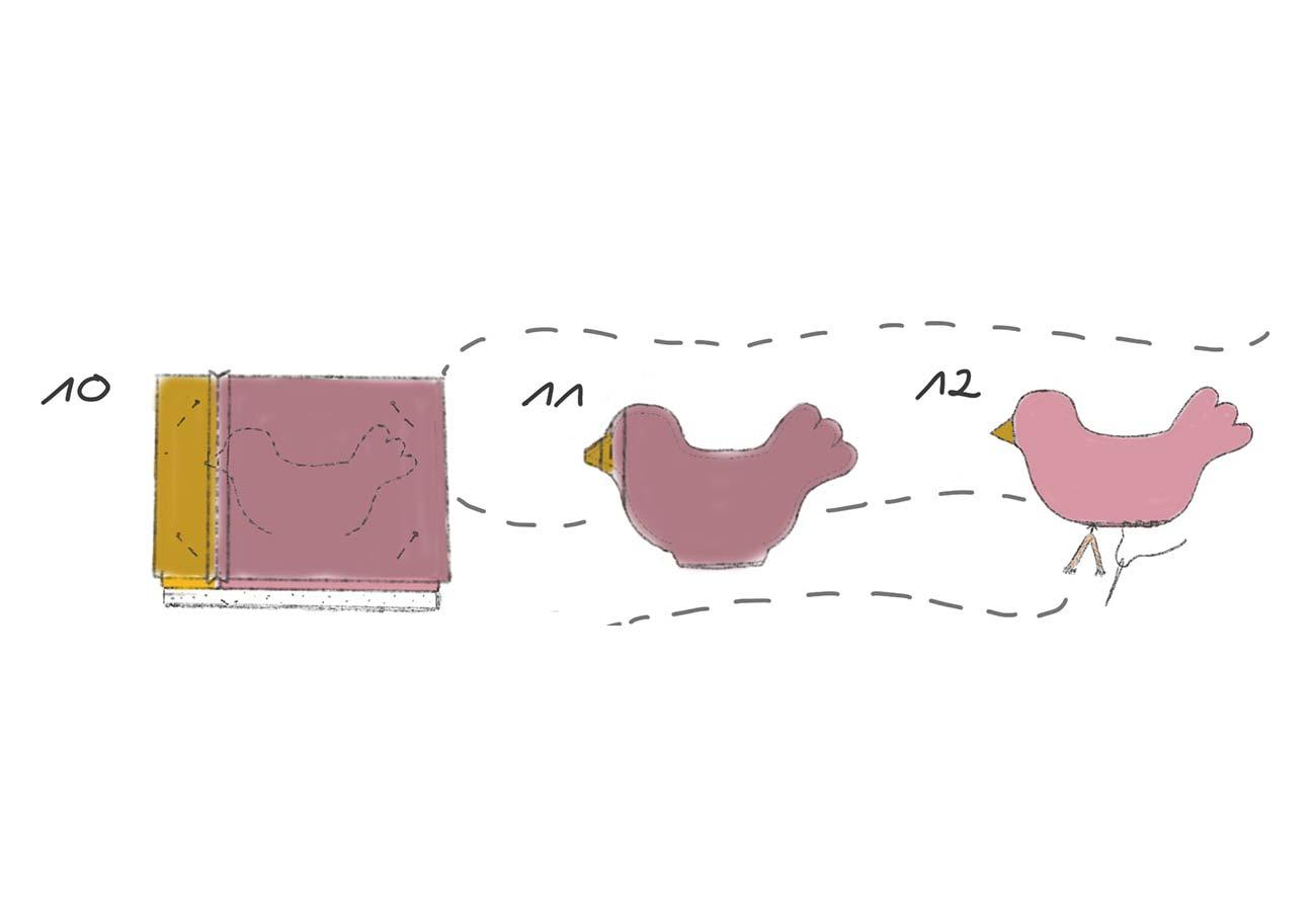 [Translate to Englisch:] Nähanleitung Vögelchen: Schritt 10 bis 12