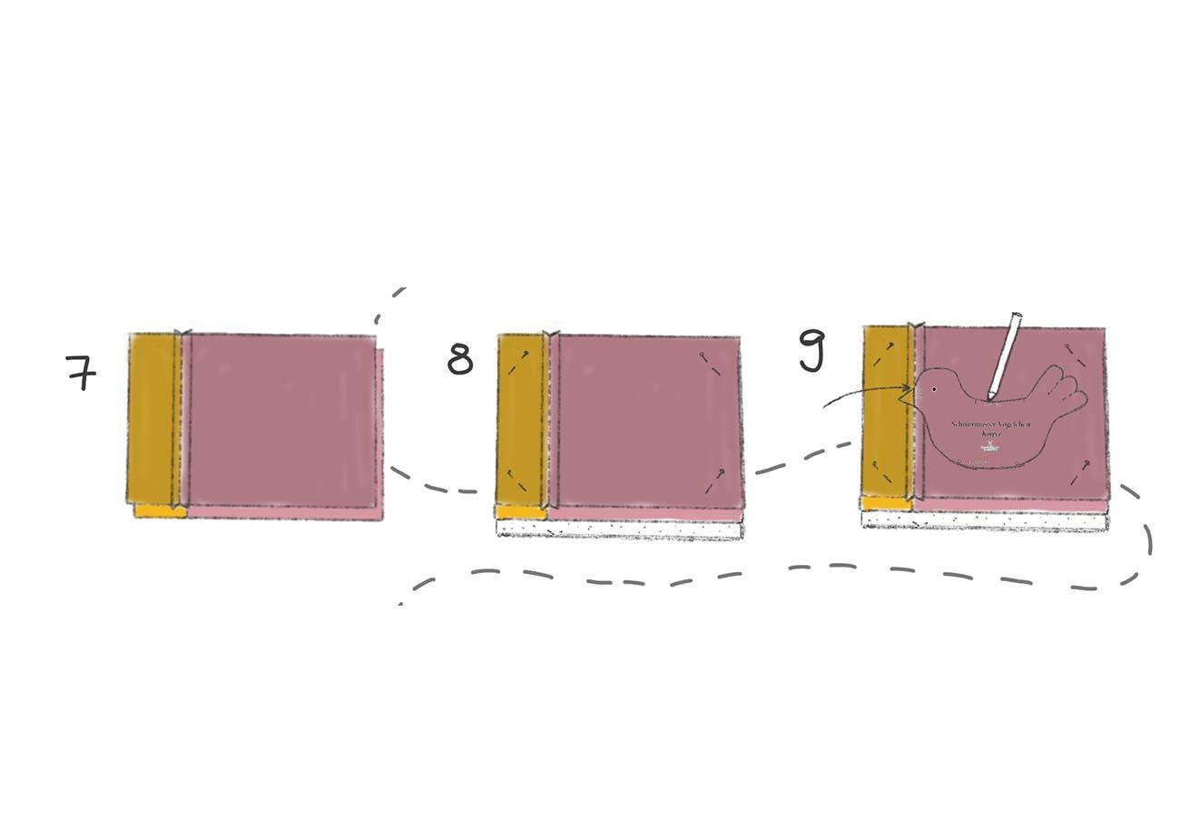 [Translate to Englisch:] Nähanleitung Vögelchen: Schritt 7 bis 9